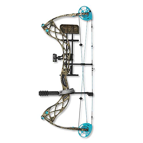 Diamond Archery Carbon Knockout Compound Bow, 50 Pound Draw Weight, Right Hand, Mossy Oak