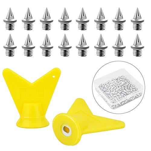 DECARETA 150 Stück Spike-Nägel Spikes Ersatz mit 2 Stück Spike Wrench und Aufbewahrungsbox für Leichtathletik-Spikes Shoe Field Spikes