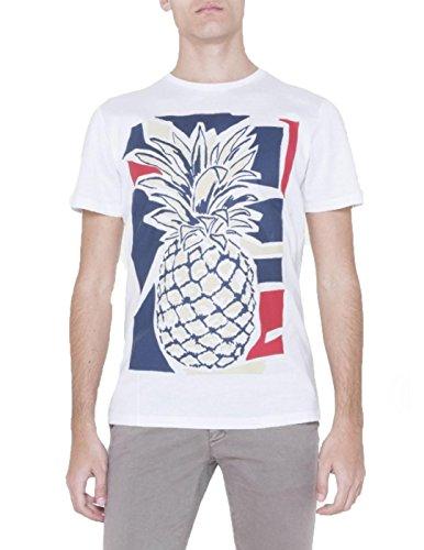 Antony Morato Mmks00985-Fa100064 T-Shirt, Bianco, Medium (Taglia Produttore:M) Uomo