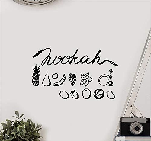 Wandaufkleber Kinderzimmer Wandtattoo Wohnzimmer Shisha-Frucht Shisha Bar Arabic