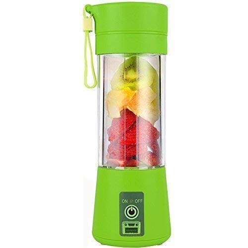 Sunshine Portable Juicer Bottle Blender Wireless Rechargeable Juice Cup Mini Automatic Fruit Smoothie Cider Device (Multicolour)