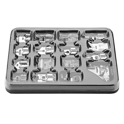 Prensatelas para máquina de coser de 16 piezas, juego de pies prensadores profesionales, accesorios multifunción para máquina de coser para cantante(#1)