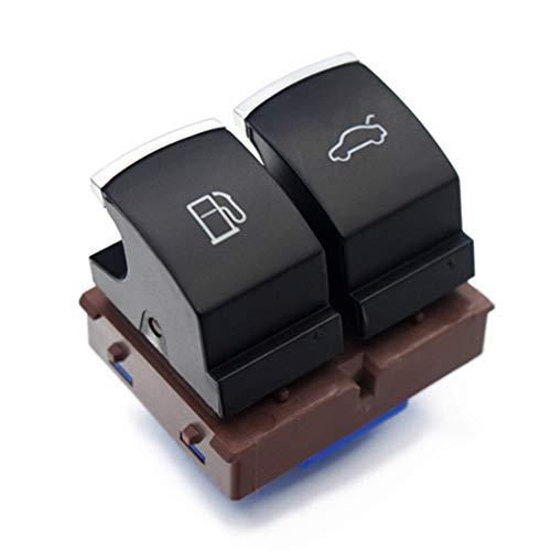 HZTWFC Interrupteur à bouton de déverrouillage de la porte du réservoir de carburant chromé OEM # 35D 959 903 3C0 959 903 B pour VW Passat B6 Jetta MK6 EOS CC