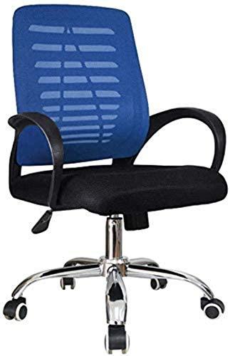 LIUBINGER Drehbarer Bürostuhl Computer Stuhl Bürostuhl Heavy Duty Back Home Büroarbeit Gaming Schreibtischstuhl Kippmechanismus 360 Grad schwenkbar (Color : Blue)