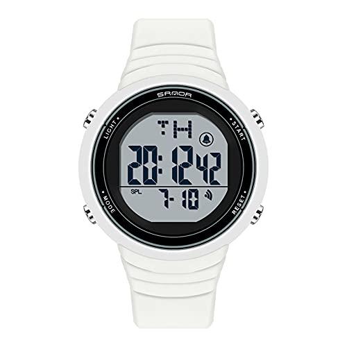 LJSF Relojes de Simulación Digital, Moda Simple Student Reloj Electrónico a Prueba de Agua LED Reloj de Pulsera de Pantalla Grandecon Alarma Pantalla Luminosa, para Damas,Set2