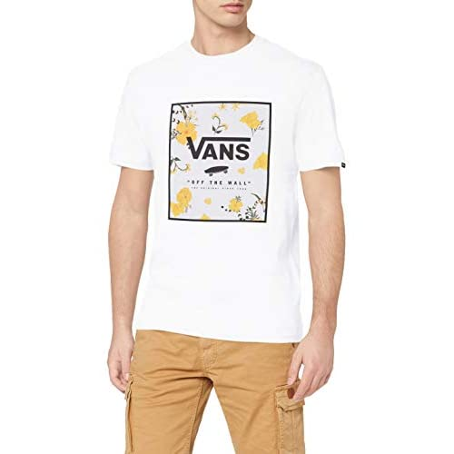 Vans Print Box T-Shirt, White-Super Bloom, M Uomo