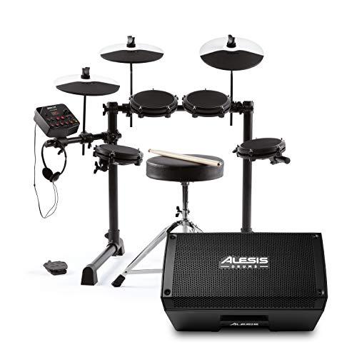 Alesis Debut Kit et Strike Amp 8 – Kit de Batterie Électronique pour Enfant et Ampli/Enceinte 2000 W Portable pour Kits de Batterie Électronique avec Woofer 8 pouces