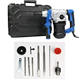 Brushless Rotary SDS Hammer Drill, Concrete Tile Breaker Demolition Heavy Duty, New 1500W Electric Demolition...