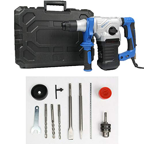 Brushless Rotary SDS Hammer Drill, Concrete Tile Breaker Demolition Heavy Duty, New 1500W Electric Demolition Jack Hammer Concrete Drill Breaker Kit Jackhammer, 5 Year Warranty