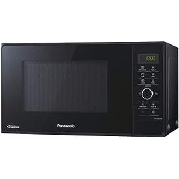 Panasonic NN-GD35HBGTG Mikrowelle mit Grill (1000 W, Dampfgarer, Steamer, Kombimikrowelle, Pizza-Pfanne, 23 Liter) schwarz