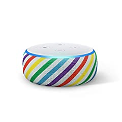 Improved speaker quality - Better speaker quality than Echo Dot Gen 2 for richer and louder sound. Pair with a second Echo Dot for stereo sound. Designed with kids in mind - They can ask Alexa to play music, hear stories, call approved friends and fa...