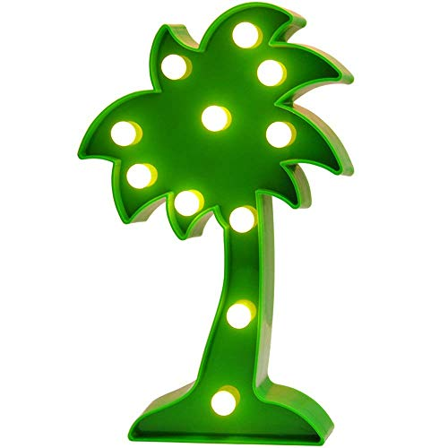 QiaoFei LED Palm Tree Light,Cute Coconut Tree Night Table Lamp Light for Kids' Room Bedroom Gift Party Home Wall Office Decorations Green