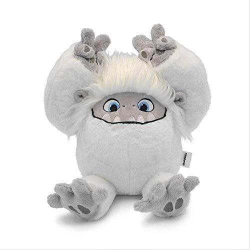 SKYEI Abominable Movie Muñeco de nieve de peluche, almohada de peluche suave para niños, 10 cm, color blanco