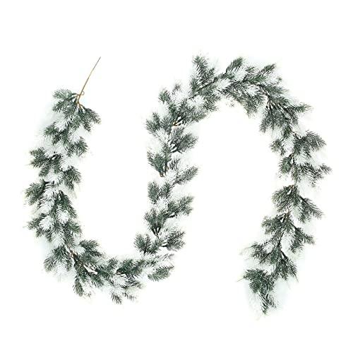 HFQNDZ LHLL 1,8 m pin Artificiel Aiguille Guirlande décoratif décoratif de Flocon de Neige Flocon Rouge Branches Vert Guirlande Feuilles de Couronne Mur de Mariage décor (Color : A)