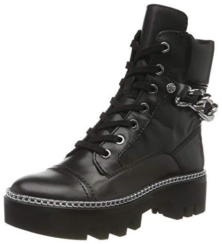 Guess Damen Domain/Stivaletto (Bootie)/lea Combat Boots, Schwarz Black, 39 EU