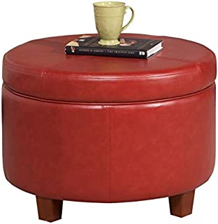 red round storage ottoman