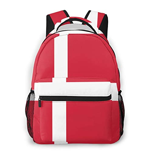 Mochila para niños pequeños Niñas La Bandera danesa Bolsa Preescolar Lonchera Niños