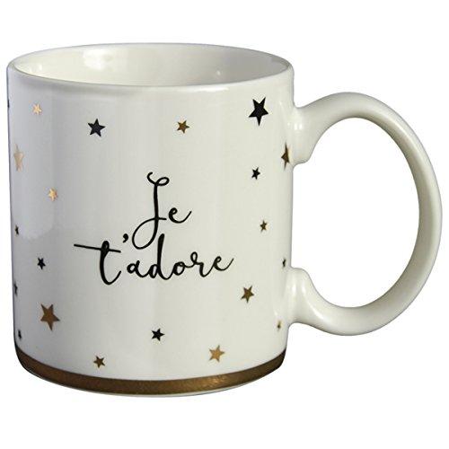 Draeger - Mug Original - je t'adore -Tasse À Café en porcelaine fine