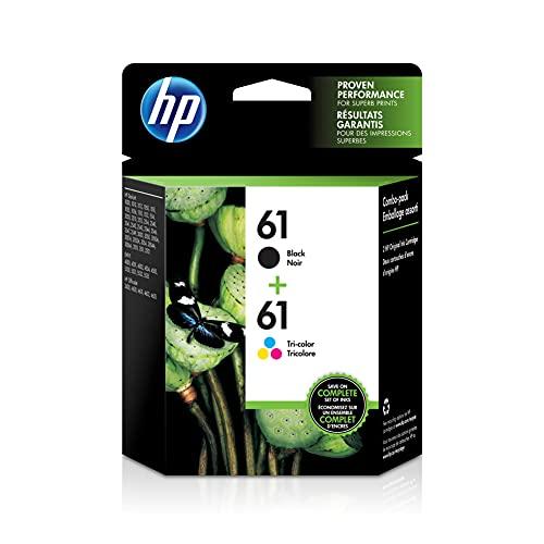 HP 61 | 2 Ink Cartridges | Black, Tri-color | Works with HP DeskJet 1000 1500 2050 2500 3000 3500 Series, HP ENVY 4500 5500 Series, HP OfficeJet 2600 4600 Series | CH561WN, CH562WN
