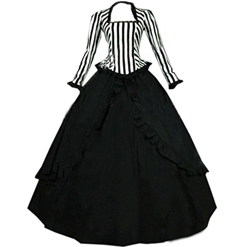 Re-Lady Women 1860s Victorian Dress Marie Antoinette Rococo Ball Gown Gothic Victorian Dress Costume XL Black