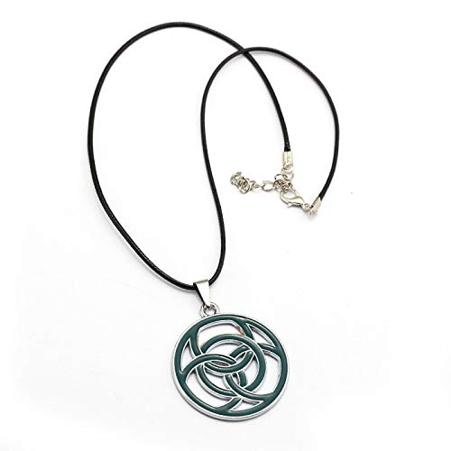 Alushisland Spiel Horizon Zero Dawn Anhänger Halskette Leder Seil Runde Grüne Männer Frau Schmuck Accessoire Für Fans