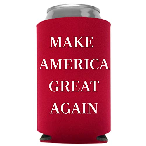 Trump 2020 MAGA Beer Coolie | Funny Gag Party Gift Beer Can Cooler | Funny Joke Drink Can Cooler | Trump Liberal Tears Beer Beverage Holder | Beer Gifts | Quality Foam Can Cooler (Great Again)
