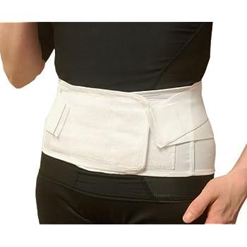 リーズナブル腰痛ベルト 白 (L)【薄型メッシュタイプ】涼しい 夏用 国産メッシュ使用