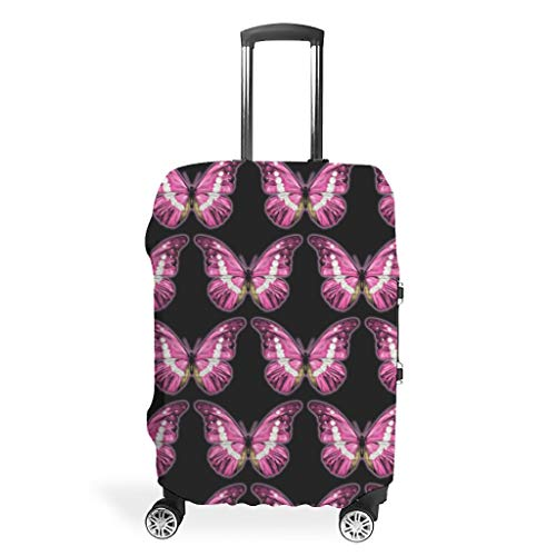 Butterfly Athletic Various Colors Travel Luggage Suitcase Cover Elasticity 18 to 32 Inch for Journey White s (49x70cm)