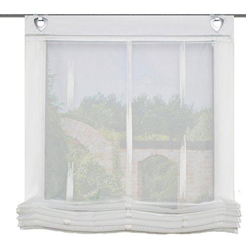 Home Fashion Raffrollo, Stoff, Natur, 140 x 80 cm