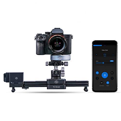 YC Onion 12 '' / 30 cm Kamera Slider Track Rail Motorisierte APP-Steuerung, 3-4 oder 5 Achsen Video Slider Dolly Track Motion Rail Kompatibel mit DJI und Zhiyun Stabilizer
