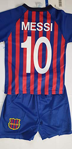 4F sport performance Maillot ET Short Foot Barcelone Barca Messi (12 Ans)