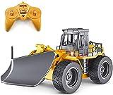 NBVCX Deportes al Aire Libre 1/18 RC camión Control Remoto quitanieves 6 Canales 2,4G aleación barredora de Nieve vehículo 4WD Tractor de Juguete con Luces para niños