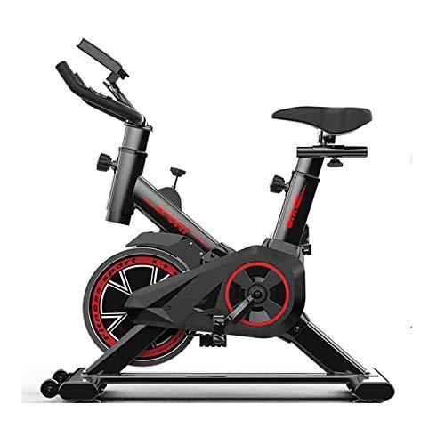 Tingeart Bicicleta EstáTica EstáTica, Bicicleta EstáTica Spinning con Disco Inercia 6Kg De Frecuencia CardíAca, Pantalla LCD, Sensores De Pulso Muy Silenciosos, Bicicleta De Spinning
