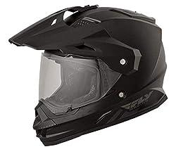 in budget affordable Fly Racing 73-7011L Trekker Helmet (Matte Black, Large)