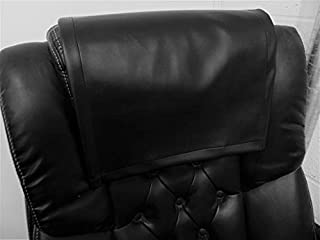luvfabrics 14 by 30 INCH Black Smooth PVC Faux Leather Vinyl Sofa Loveseat Chaise Theater Seat, RV Cover, Chair Caps Headrest Pad, Recliner Head Cover, Furniture Protector