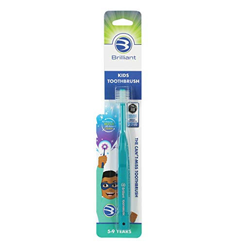 Brilliant Kids Toothbrush Ages 5-9 Years - When Adult Teeth Appear -...