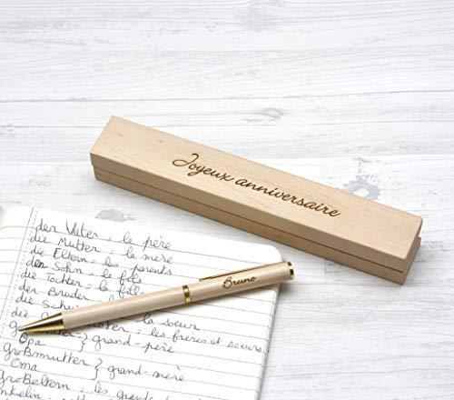 Penna personalizzata e cassetta personalizzata, in...