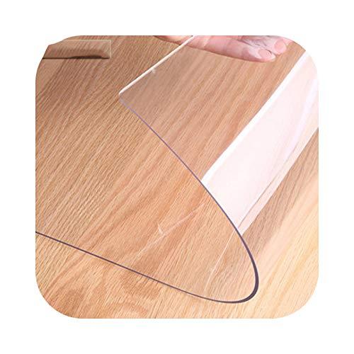 Mantel de cristal flexible transparente, mantel líquido encerado para mesa, alfombra suelo, funda de protección de mesa, tela de silicona PVC