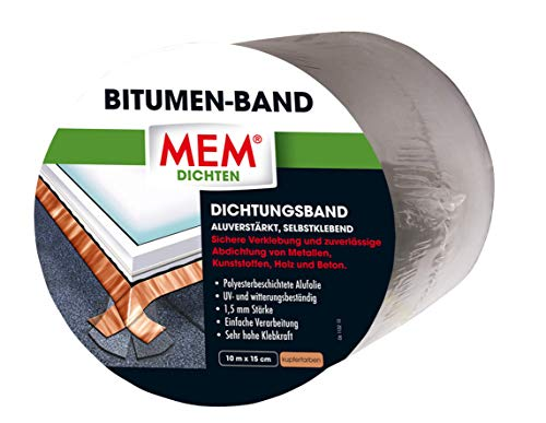 MEM Bitumen-Band kupfer 15 cm x 10 m