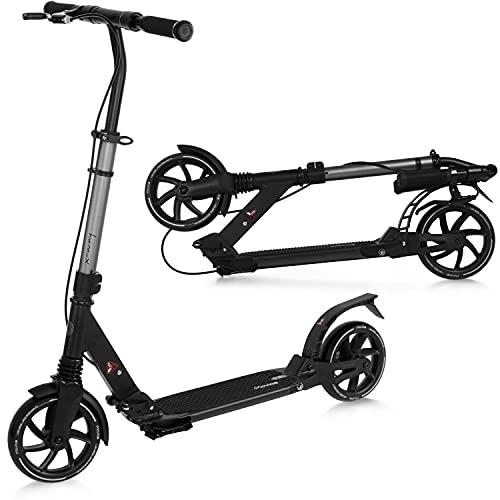 Patinete Movino X-Way | Freno de mano | Patinete Plegable | Rodamientos ABEC-7 | Ajuste suave de la altura del manillar | Amortiguador anterior y posterior | Peso del usuario: 20 a 100 kg