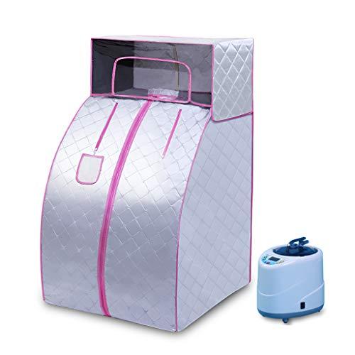 Lee 54069 ADKINC 2L Dampfsauna Portable Home Spa, Ganzkörper Abnehmen Gewichtsverlust, Gesunde Detox-Therapie Eine Person, Vergrößerter Klappsessel, (1000W)