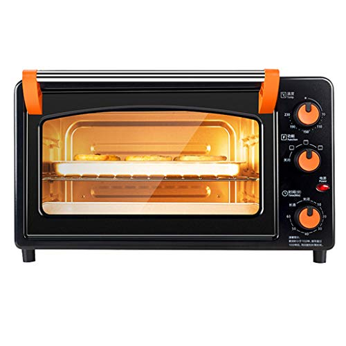 Mini Toaster Oven Cooker for for Bread, Bagels, Cookies, Pizza Multiple Cooking Functions,Adjustable Temperature Control/Timer,25L