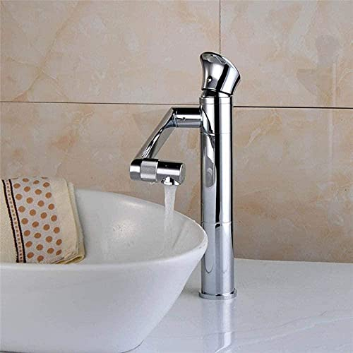 Grifo de lavabo giratorio antiguo grifo de baño monomando lavabo grifo de lavabo abrevadero de agua fría y caliente