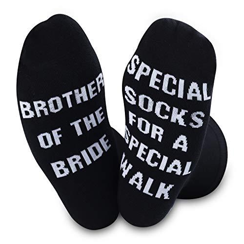 Calcetines especiales para hermanos de la novia para un paseo especial, regalo de boda o regalo de hermano de Bride
