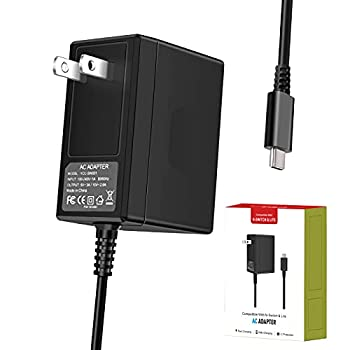 Switch Charger for Switch/Switch Lite - AC Adapter 15V/2.6A Fast Charging with 5 Ft Type-c Power Cord Third Generation Updated Version of The Adapter   Not Support TV Mode