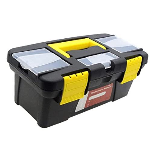 Caja de herramientas de plástico portátil Equipo de seguridad Caja de instrumentos Maleta de resistencia de impacto Maleta de almacenamiento al aire libre Caja de herramientas 10 pulgadas de