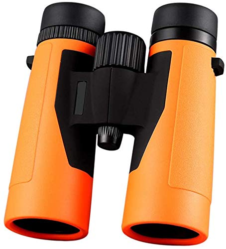 Candicely verrekijker Telescoop Compact Waterdichte Fogproof Telescoop Professionele Vogels Kijken Verrekijker Voor Outdoor Sightseeing Reizen Jacht Gaming Telescoop (Kleur : Oranje, Maat : 10x42)