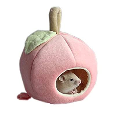 Fiween Hamster House Pet Supply Apple-shape Clothes Sleeping Bag Cold Measures,Small Animal Bed from UK-xinhangnuoda