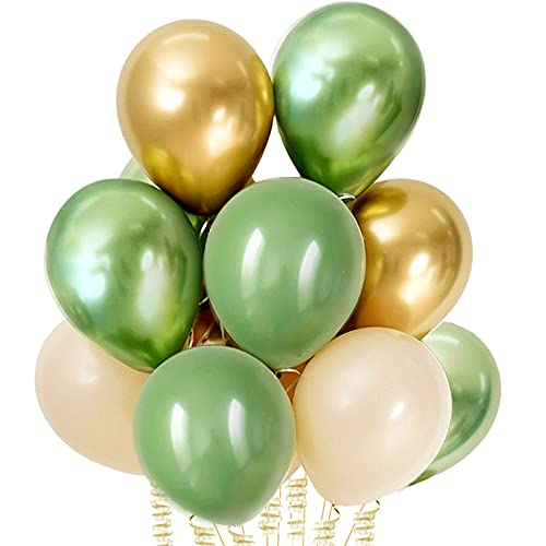 Sage Balloons Matte Olive Green Cream Nude Neutral Garland Kit Arch Baby Shower Party Decorations Decor 12 Inch