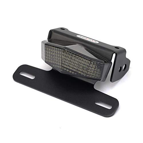 XIAOFANG Fangxia Store Kennzeichenhalter LED-Licht Fit for Suzuki DRZ400 S/SM/E DR-Z 400 DRZ400SM DRZ400S DRZ400E Motorrad Kennzeichenhalter Fender Eliminator (Color : Black)